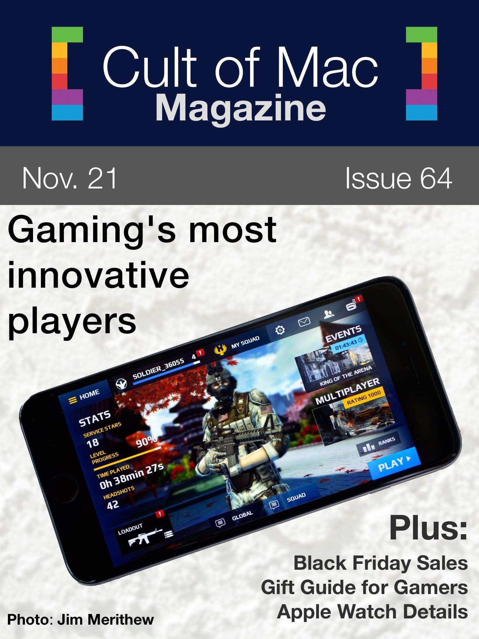 Gaming, Apple Watch, Black Friday. what more do you need? Cover Design: Rob LeFebvre/Cult of Mac