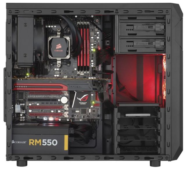 Components installed in the SPEC-01. Photo: Corsair