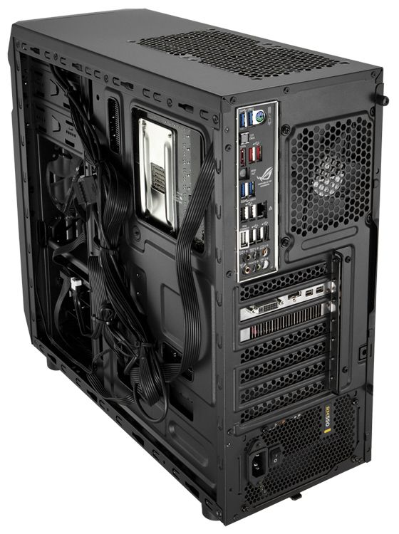 Thread wires through the back of your case to keep them tidy. Photo: Corsair