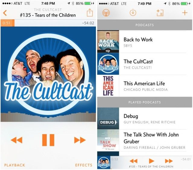 Overcast is now on iPad and Carplay. Photo: Cult of Mac