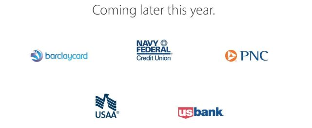 "All of the banks listed as coming ""later this year"" by Apple flipped the Apple Pay switch this morning,"