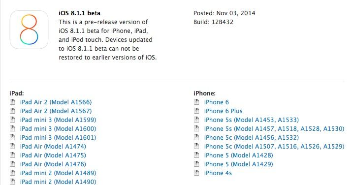 iOS 8.1.1 is imminent. Photo: Cult of Mac