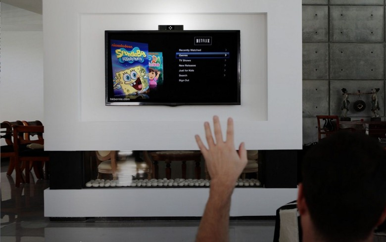Kinect-like gesture control comes to the Apple TV. Photo: Onecue