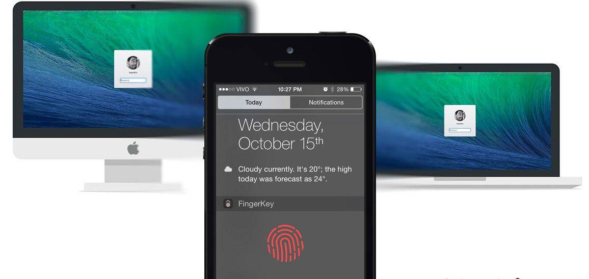 Unlock your Mac with TouchID! Photo: FingerKey