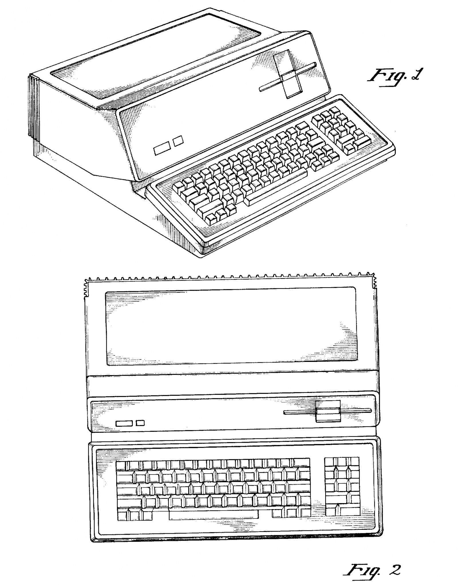 Steve Jobs's first patent for a 'Personal Computer.' Photo: US Patent Office