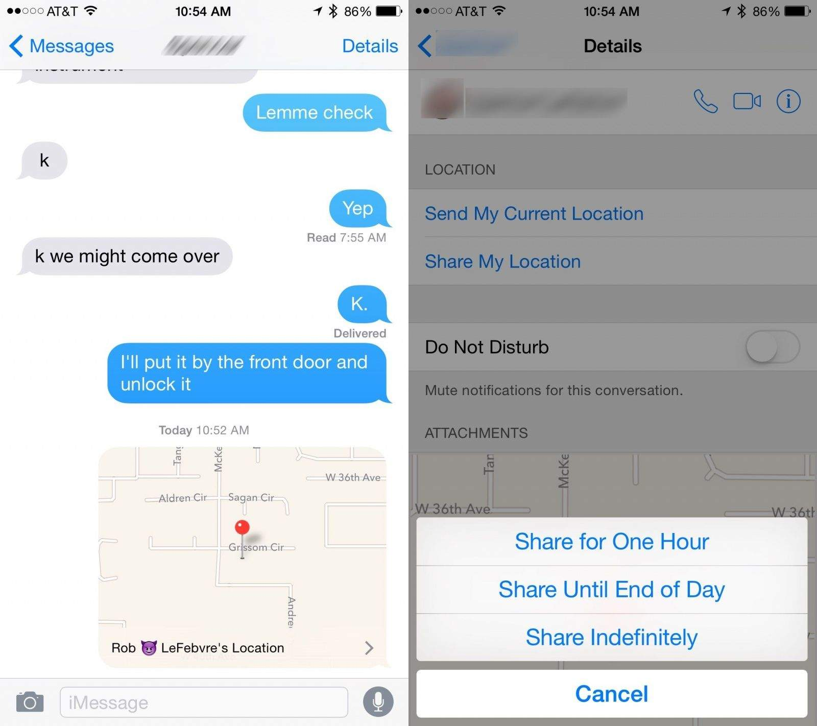 How to send buddies your location details with iMessage