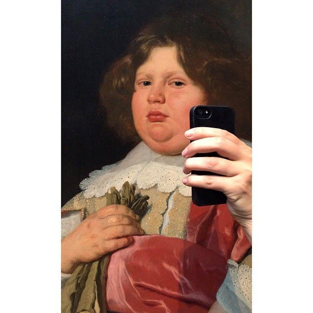 Food selfies were always a thing. Photo: Olivia Muus/Museum of Selfies