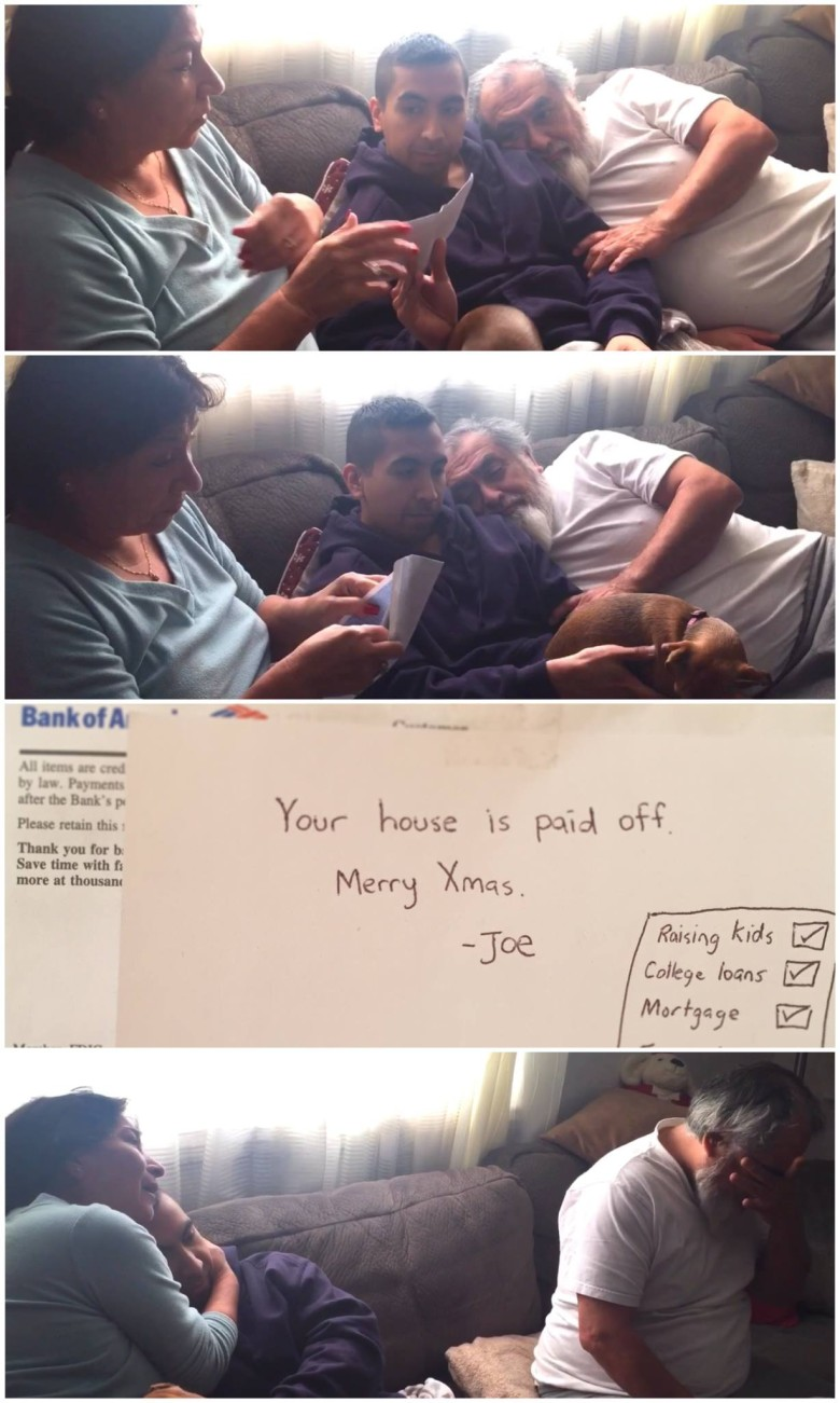 Developer Joe Riquelme paid off his parents' mortgage for Christmas. Photo: Joe Riquelme