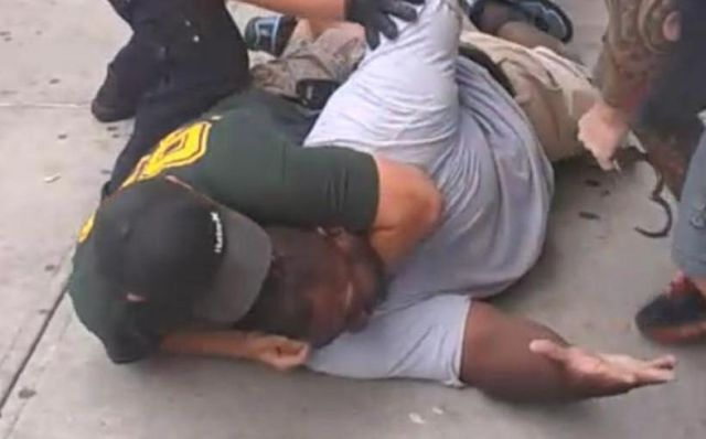 Cellphone video of a police choke hold that killed Eric Garner. (Ramsey Orta)