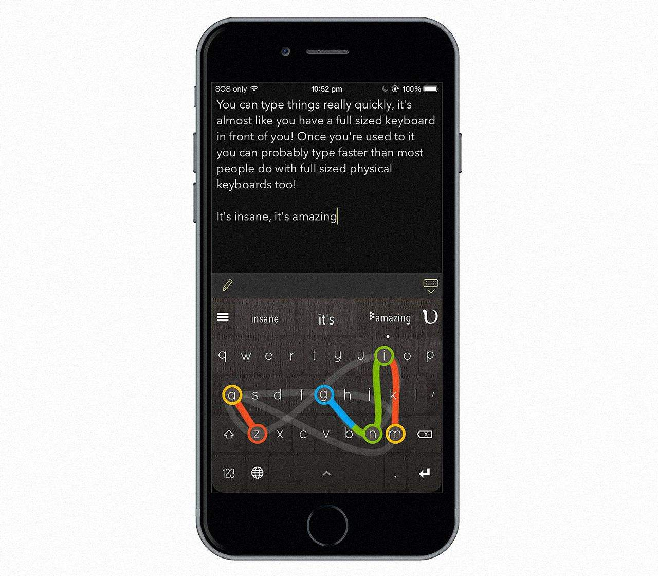 Apple has asked this great iOS keyboard to pull one of its signature features. Photo: Nintype
