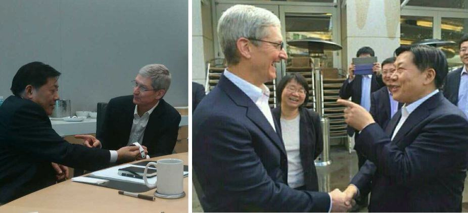 Cook welcomes China's Internet Minister to Apple. Photos: China.com.cn