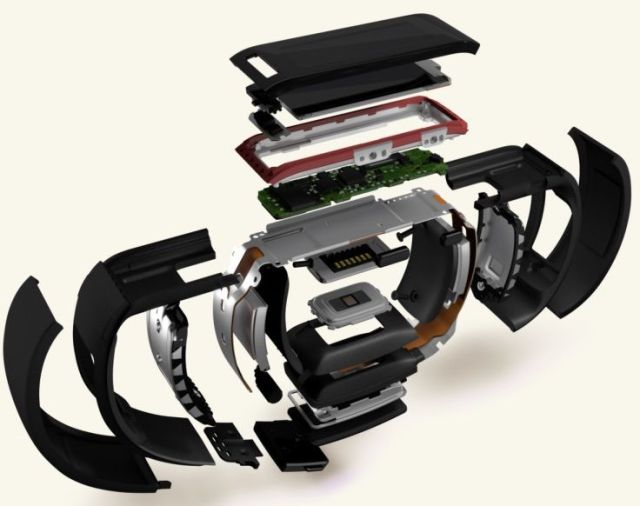 An exploded view of the Band. Credit: Microsoft