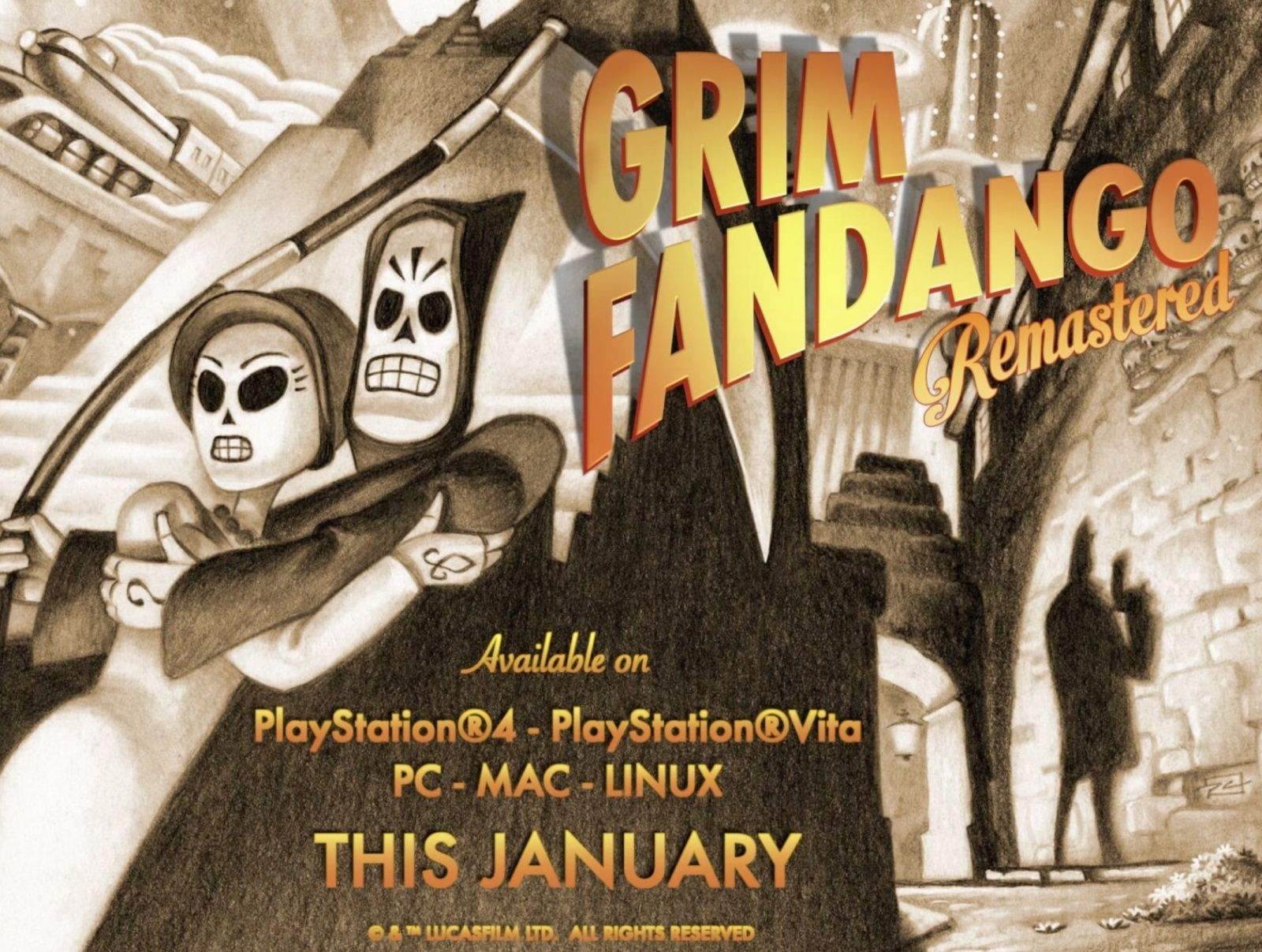 Now we can all play this classic adventure game on our Macs. Photo: DoubleFine Productions