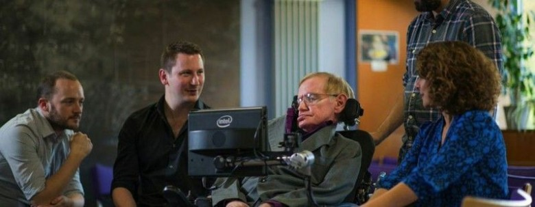 Now Professor Hawking can curse autocorrect, too. Photo: The Next Web