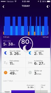 One of Jawbone's neatest features is its ability to help quantify how well (or badly) you sleep.