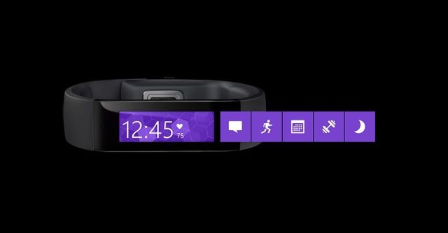 To use the Band, you swipe through a set of tiles. Shown here are messages, running, calendar, workout and sleep. Credit: Microsoft