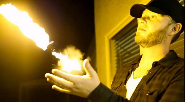 The PYRO Fireshooter puts shooting fireballs in the palm of your hand. Screen grab from ellusionist.com