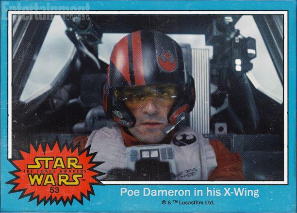 Oscar Isaac as Poe Dameron.
