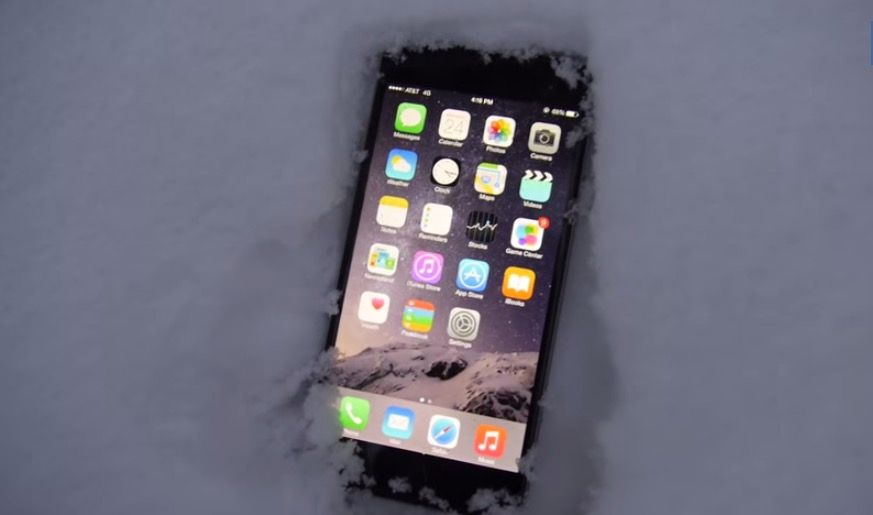 Yes, your iPhone 6 can survive a night in the snow. Screenshot: Cult of Mac