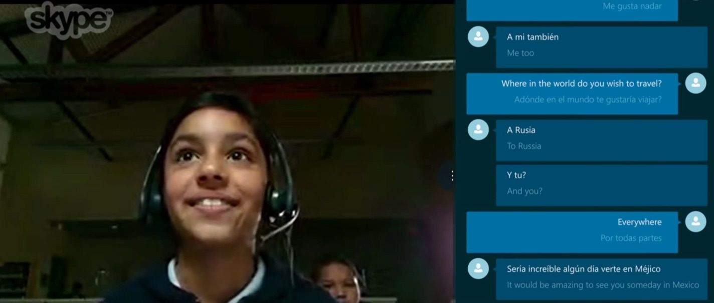 Even school kids can see the potential. Photo: Skype/Microsoft