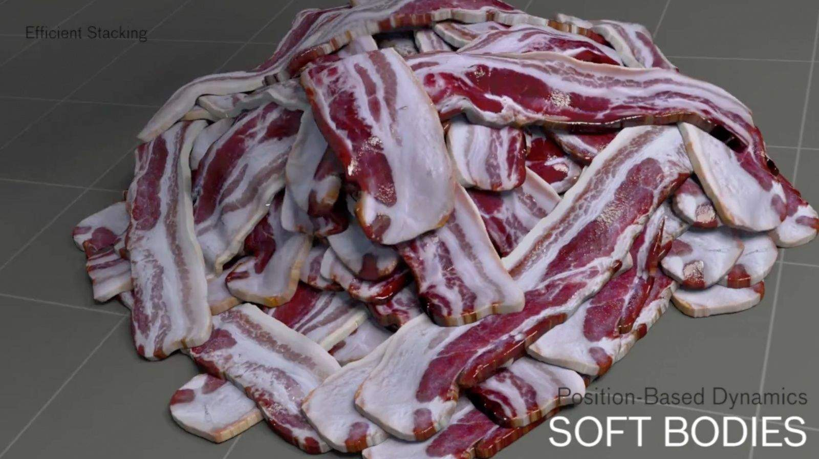 Bacon is delicious, even if it's fake. Photo: Side Effects Software
