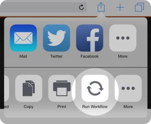 Workflows become their own iOS 8 extensions.