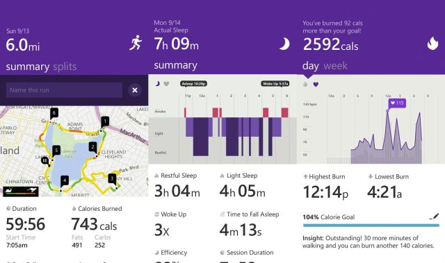 Microsoft's Health app is well designed and easy to use. Credit: Microsoft