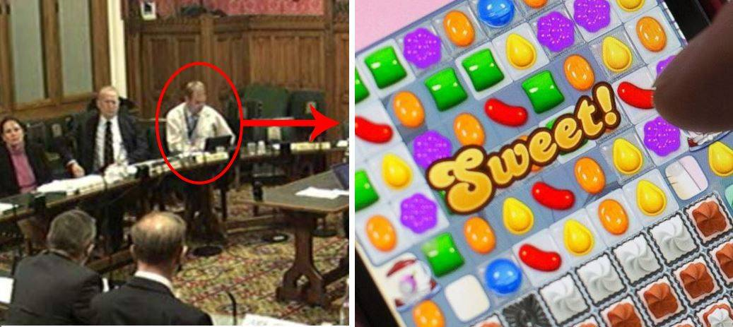 What could be more important than running a country? How about a quick game of Candy Crush? Photo: BBC
