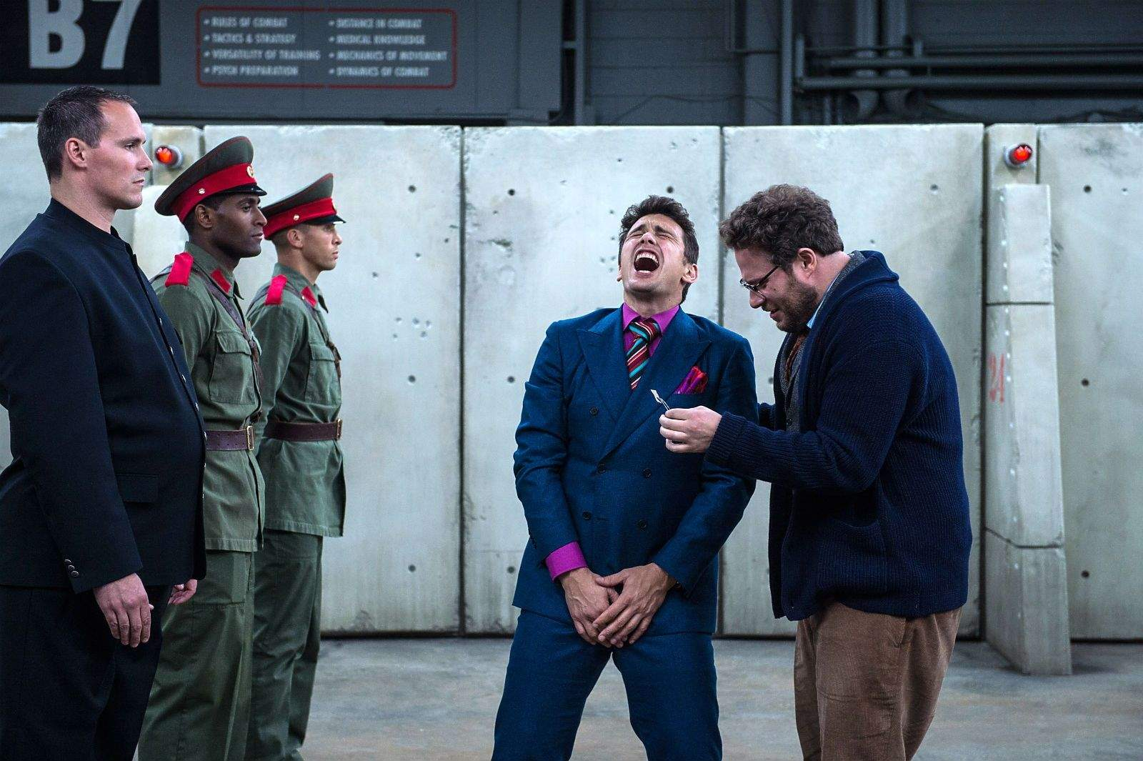 Bust terrorists in the balls by seeing The Interview. Photo © 2014 CTMG