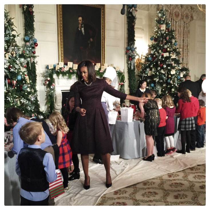 Christmas decorations at the White House, as captured using an iPhone 6 Plus. Photo: Brooks