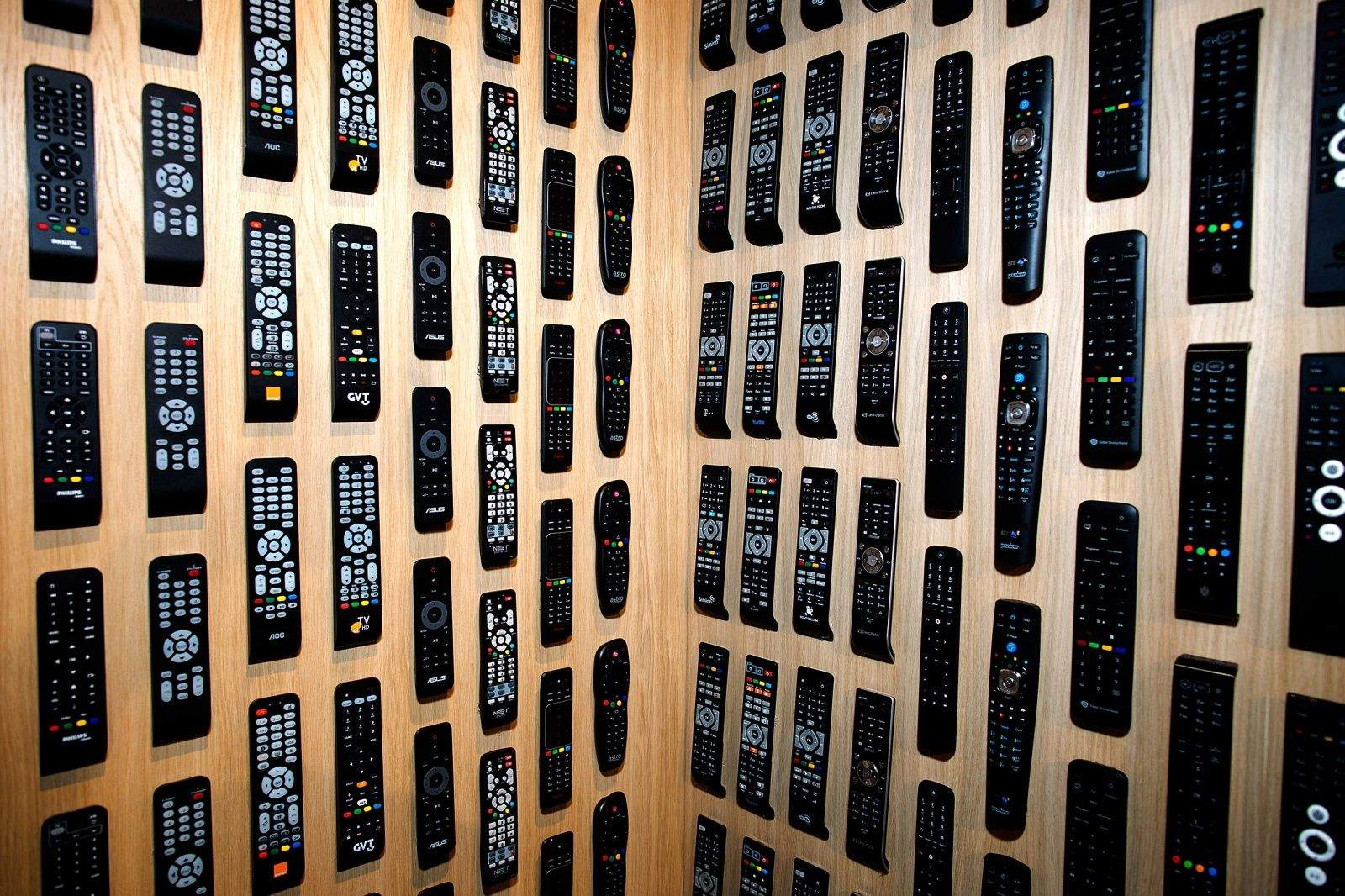 Wall of Philips remotes. Photo: Jim Merithew/Cult of Mac