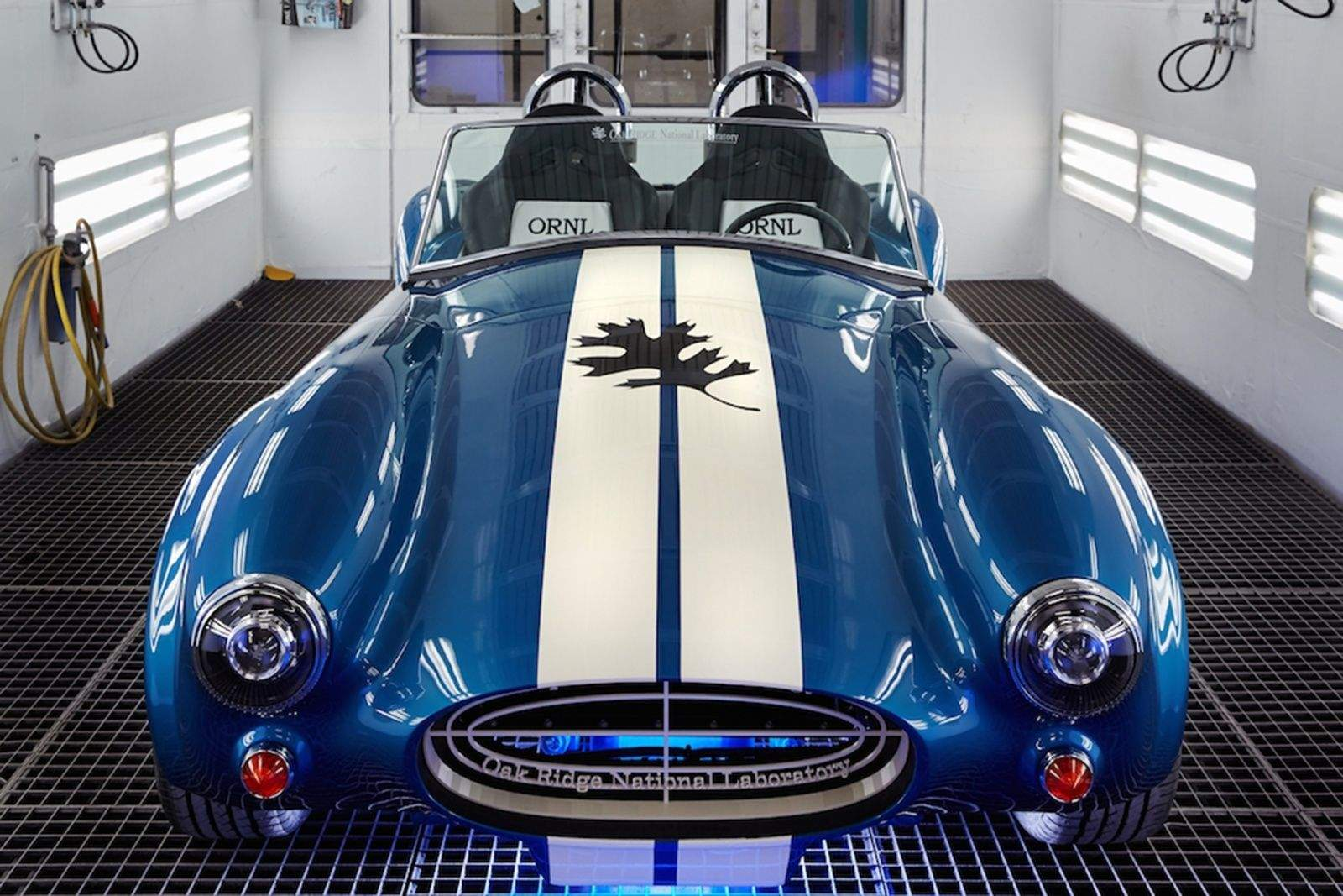 A blast from the past got a blast from a 3-D printer. This replica Shelby Cobra is on display this week at the Detroit Auto Show. Photo: Oak Ridge National Laboratory