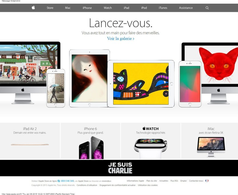 Apple's French website has been updated with the