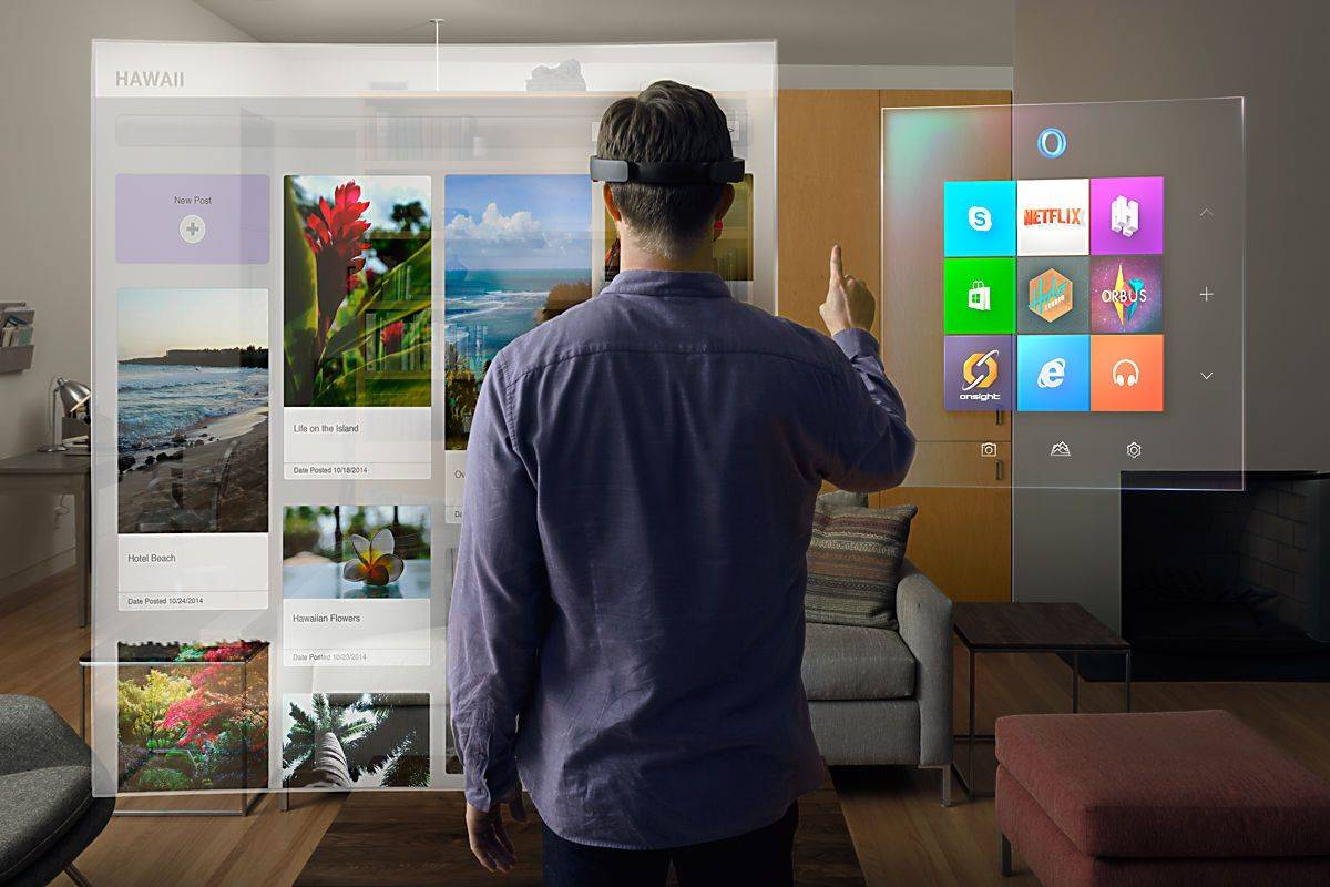 With HoloLens, Microsoft enters the age of holographic computing. Photo: Microsoft