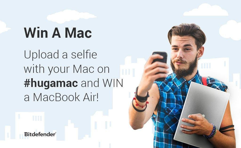 One quick selfie could win you a MacBook Air. Photo: Bitdefender