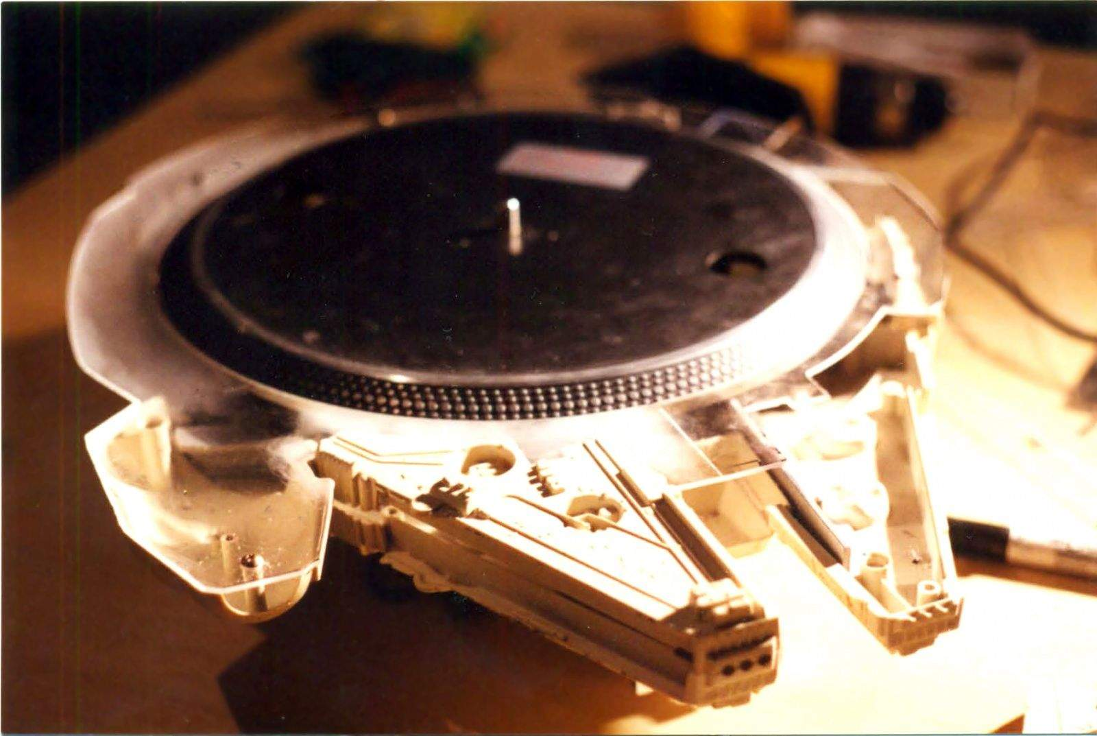 The Millennium Falcon makes a great DJ turntable. Photo: Marco at Picotek