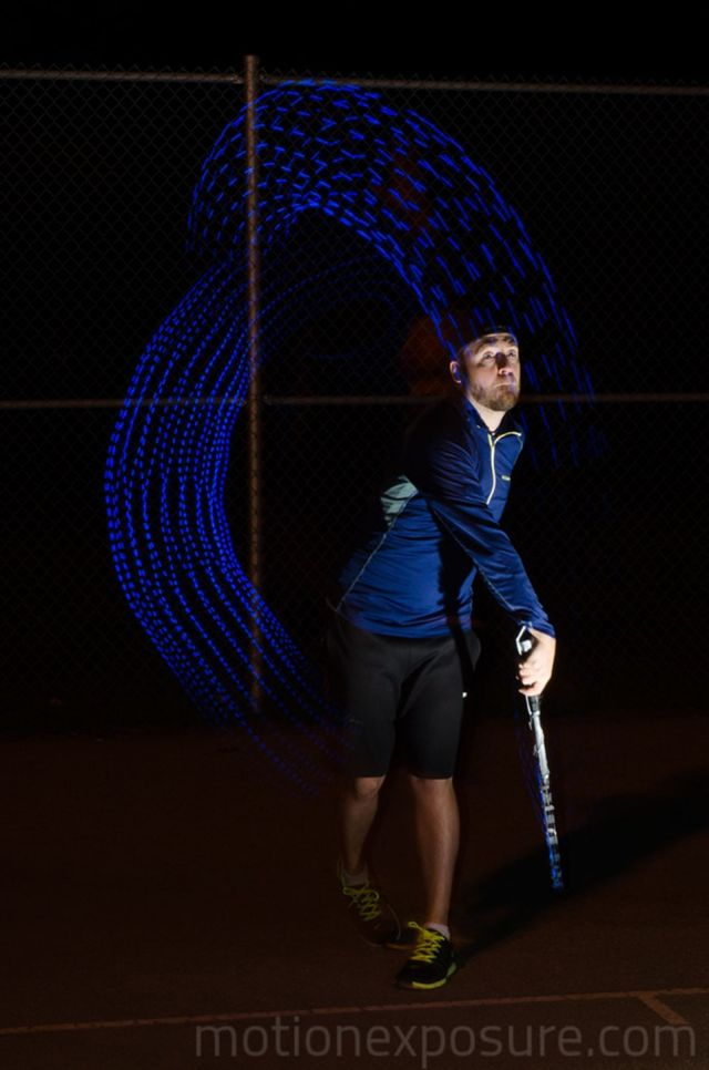 Tennis serve. Photo: Stephen Orlando