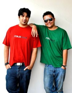 Anuj Tandon, left, and Rohit Gupta, in all their finery. Photo: Rolocule Games