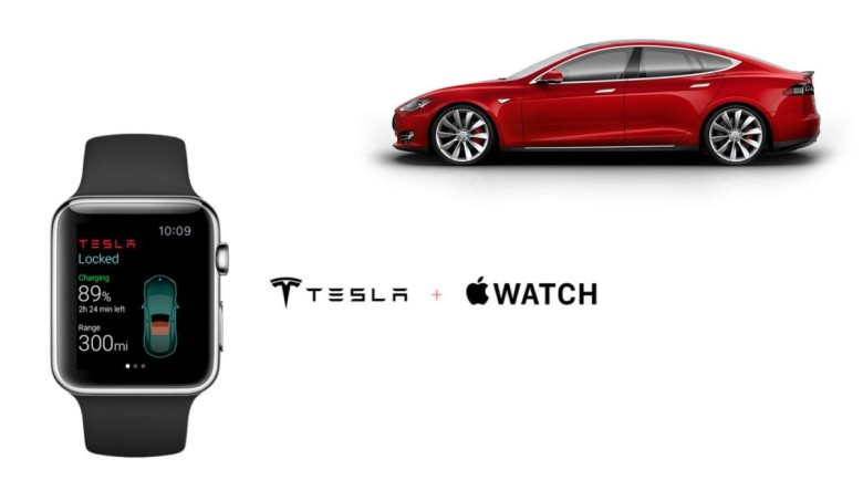 The makers of this Tesla app were frustrated by the Apple Watch's lack of capability. Photo: Eleks Labs
