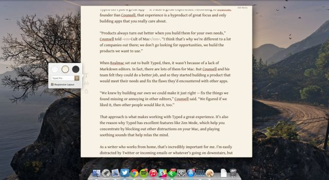 Typed in action. Screenshot: Cult of Mac