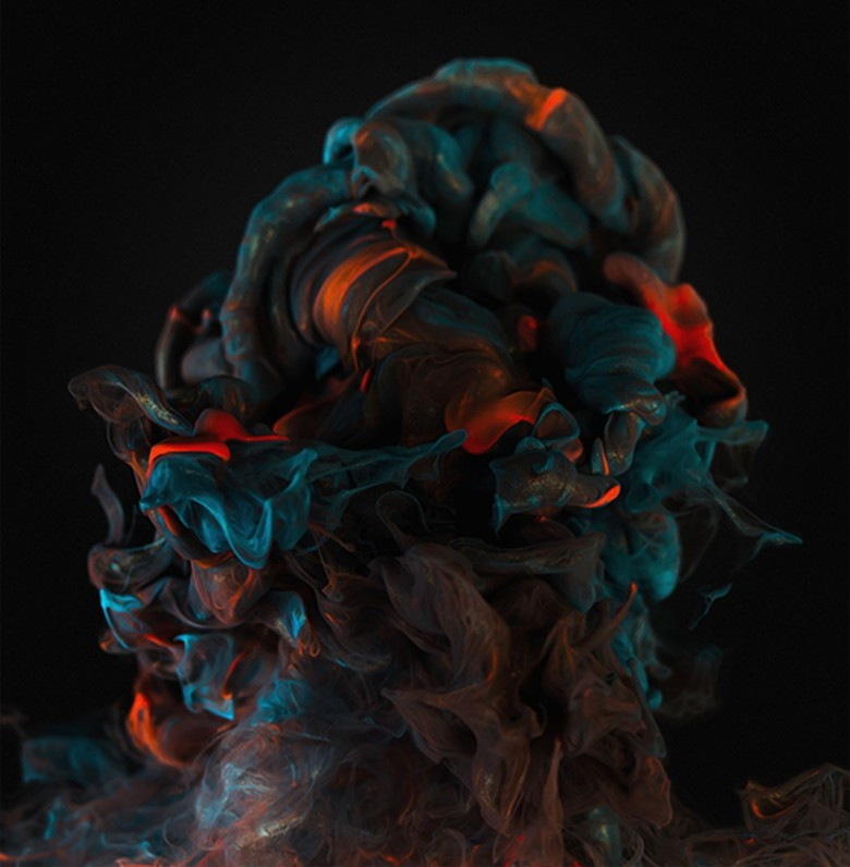 Graphic artist and photographer Alberto Seveso mixed metal ink with water for this luminescent creation. Photo  by Alberto Seveso