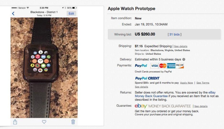 online retailer 3b980 85b81 Fake 'Apple Watch prototype' sells for hundreds on eBay | Cult of Mac