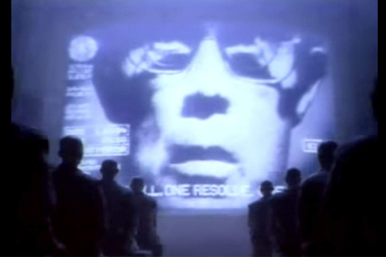 The Big Brother-like leader in the Super Bowl commercial that introduced the world to the Apple Macintosh computer. Photo: Apple/YouTube