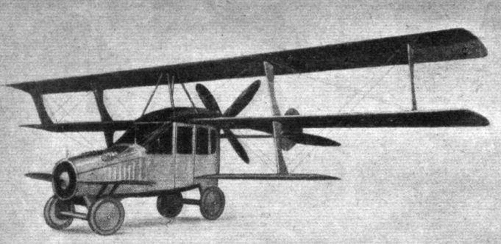 The Curtiss Autoplane in 1917 is considered the first flying car. It hopped but never got far off the ground.