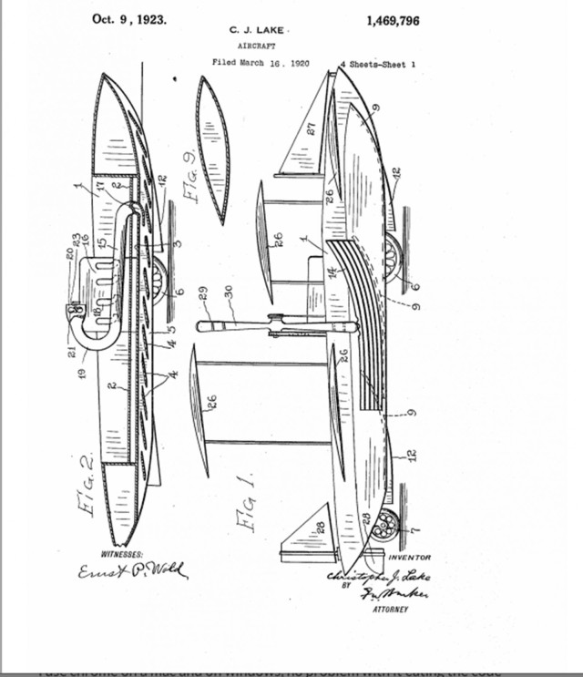 This design for roadable aircraft is part of an application for a patent. Document: United States Patient and Trademark Office