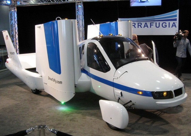 The Transition by Terrafugia has had more than 100 hours of testing in the air and could be ready to deliver to buyers in the next two years. Photo: IFCAR