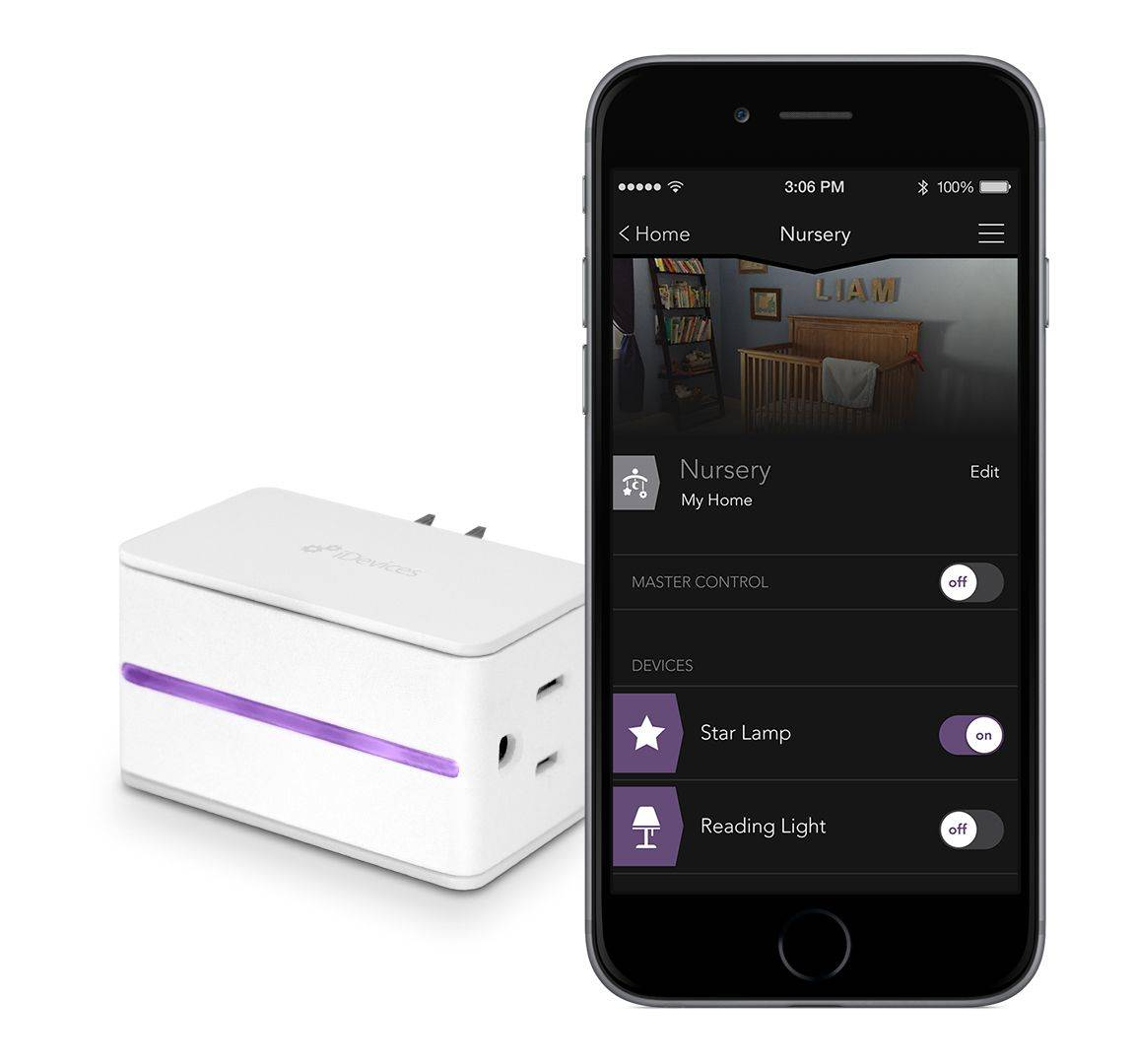 iDevices' HomeKit-compatible Switch lets you control anything you plug into it using an iOS app. Photo: iDevices
