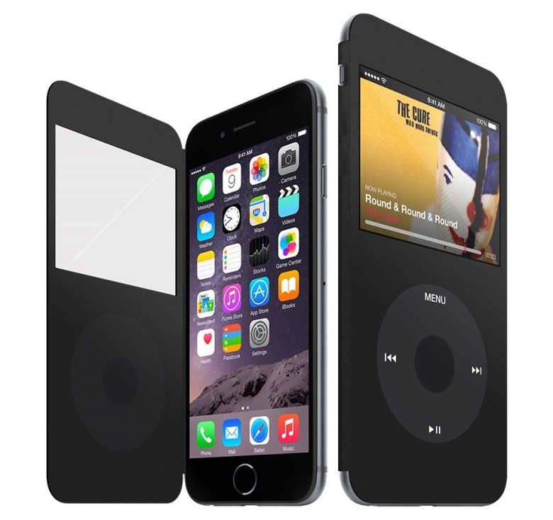 Would you buy this iPod Classic cover for the iPhone? Photo: Claudio Gomboli
