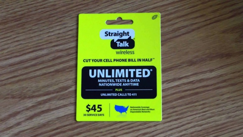 This sort of promotion is what got TracFone in trouble. Photo: StraightTalk