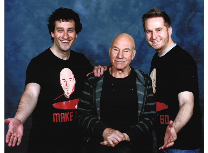 I got a pic with Patrick Stewart.  He was thrilled.